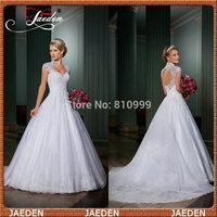 SW397 Vestido De Festa Discount Cap Sleeve White/Ivory Princess Wedding Dress