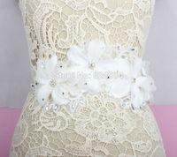 Wholesale Luxury White Flower Wedding Dress sash Bridal belt Very Beauty DIY Wedding Dress Decoration