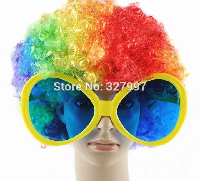 6xMuticolor extra large glasses funny party oversized sunglasses plastic oval frames Halloween Christmas decoration eyewear(China (Mainland))