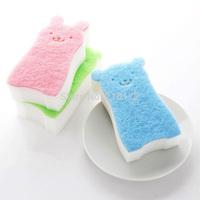 Teddy Bear family home creative sponge to wipe clean cloth washing brush QJ004