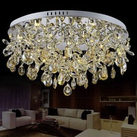 New arrival crystal led ceiling light,modern fashion crystal decorative ceiling lamp