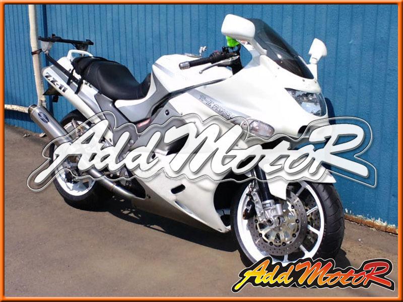 Promotion fairing kits ABS Motorcycle ABS Support Custom Kawasaki White fairings for kawasaki zzr1100 93-01 zzr1100 kawasaki zzr(China (Mainland))