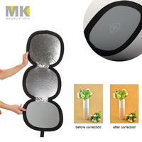 Selens Acessories 3in1 board 37cm reflector Black white grey gray card with Balance Panel for photographic
