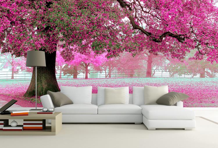 Arboles de cerezos pintados en pared imagui - Murales pintados en la pared ...