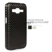 Carbon Fiber Hard Plastic Case For Samsung Galaxy Core Prime G3606 Ultra Thin Protective Rear Cover Back Shell G3608 G3609