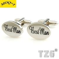 BEST MAN Black Enamel Cufflink Cuff Link 1 Pair Free Shipping Promotion