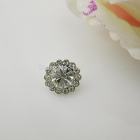 (OY427 10mm)100Pcs Little Round Shank Rhinestone Clear Crystal Button For Sewing Costume Craft