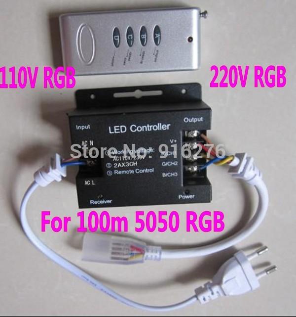 RGB контролер TM 4 RGB 110 /220 100m RGB 5050 , 4 /, RF touch remote controller high voltage mini 6a rgb led rf remote controller