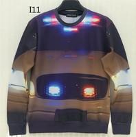 [Magic] Whole Clothing pint Car casual pullover sweatshirts men 3d sweatshirt round neck hoodies I11 free shipping