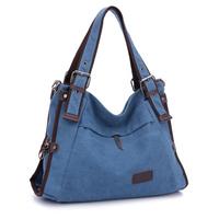 Canvas rucksack   Woman canvas handbag Outdoor leisure canvas bag Canvas shoulder bag free shipping