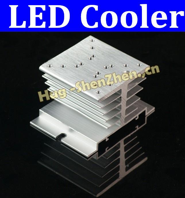 Free shipping 2pcs/lot LED heatsink 4.3inch * 2.3inch / 109.2mm * 58.5mm heatsink , LED cooler ,LED radiator free shipping(China (Mainland))