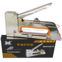 XUNFA 1008F Manual Staple Gun Nail Gun Nailing Machine Black Box Upholstery Tool