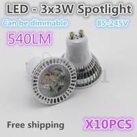 Free shipping. 540LM highlight 3*3W shoot  light, can choose 6000K / 3200K, quality assurance  10 PCS /LOT
