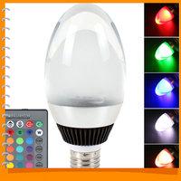 E27 10W 85-265V SMD5730 RGB LED Lamp Light Crystal Christmas Epistar LED Bulb with 16 Colors + 6 Light Modes + Remote Control