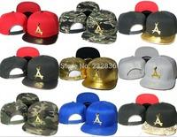 2015 New brand THA Alumni hats Gold Leather Snapback Caps Black Red camo gorras baseball cap Hip Hop Men's Adjustable sports hat