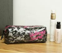 Fashion maleta de maquiagem Mini Flower  Lace VS Cosmetic bag Makeup Bag Zipper Pouch Purse bolsa feminina