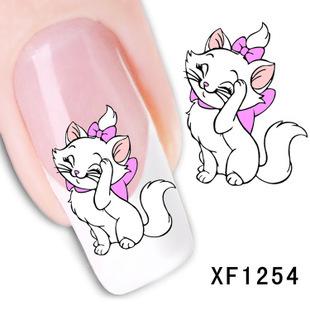1 Sheet Lovely Cat 3d Nail Stickers Japanese style Nail Art Decorations Styling Tools Adesivos Decorativos Nails Unhas XF1254(China (Mainland))