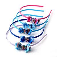 5pcs/lot Frozen Anna Elsa hair clasp bow cartoon cute girl kids Hairbands headwear baby children gift hair band girl accessory