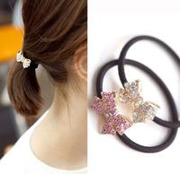 Super Shine Bow Hairpin Hair bands Fashion Hair Elastic Hair Accessories AF017