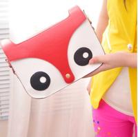 new hot fashion women lady girl Korean style shoulder bag purse small fox cartoon handbags gift PU high quality free shipping