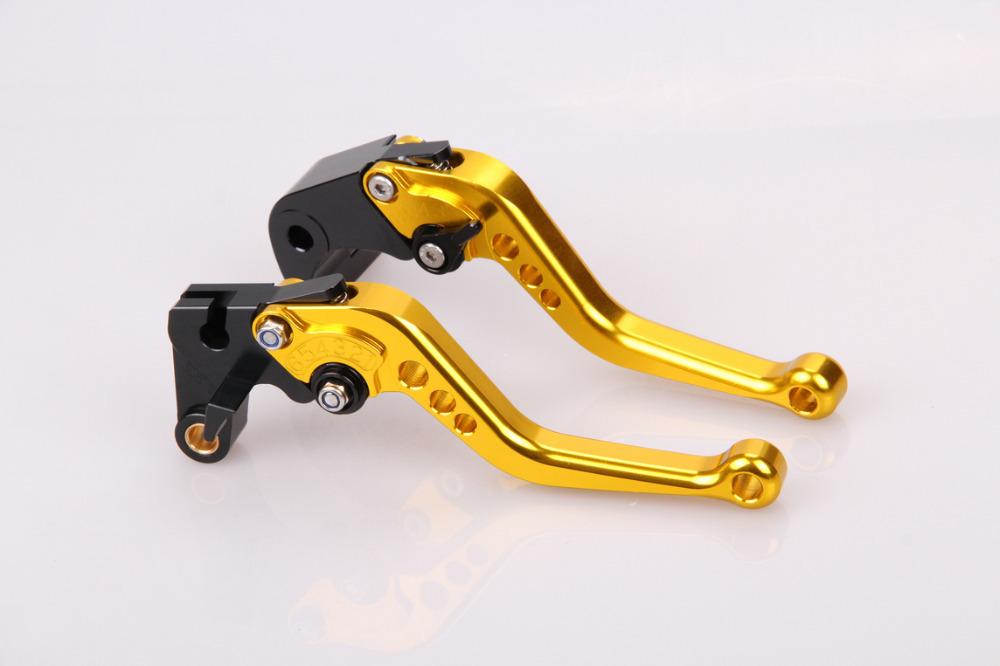 Aluminium alloy Short CNC Brake Clutch Levers For Kawasaki ZX6R / ZX636R / ZX6RR 2000 2001 2002 2003 2004 Golden(China (Mainland))