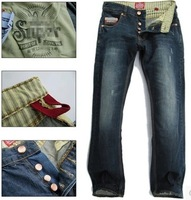 2014 new straight loose male jeans men's jeans extremely dry genuine Beckham endorsement Entertainment