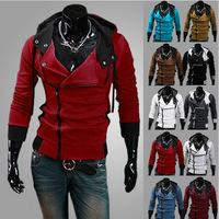 2015 New suspension fleece hooded fleece Men's fleece jacket harrington cardigan cultivate one's morality