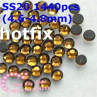 SS20 smoke topaz rhinestones SS20(4.6--4.8mm) 1440pcs/lot flat back free shipping
