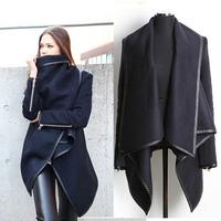 2014 women's overcoat trend New Fashion Women's Slim long Woolen blended Coat Winter casacos femininos