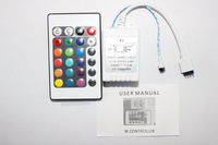 Music IR Controller 12V 6A 24 Keys IR Remote Controller for 3528 5050 RGB LED Strip lights Mini Controller