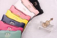 Promotion Wallet! Freeship gentlewoman wallet fashion ladies leather wallet for women,women wallets bowknot purse,clutch bags