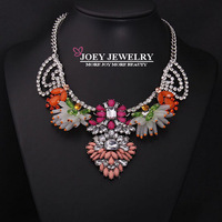 JOEY New Luxury Necklace Collar Crystal Gem Statement Necklaces Chokers Necklaces pendants Freeshipping