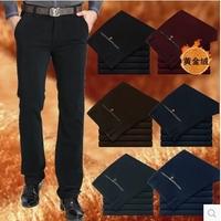 New Men Pants Winter plus size 29-40 Warm casual Male Trousers corduroy slacks  gold velvet  barreled straight stretch corduroy