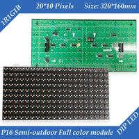 Semi-outdoor P16 RGB Full Color Lintel LED Display Module 320*160mm 20*10 pixels