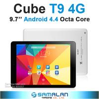 Cube T9 tablet pc MT8752 octa core 9.7 inch 2048x1536 Retina 3G Dual 4G Dual camera 2.0MP 13.0MP WIFI Bluetooth OTG TF