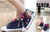 New Child Girls Sneaker Shoes Canvas Casual Shoes For Kids Fashion Lace-Up Girl'S Beautiful Spring/Autumn Shoes