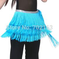 Belly Dance 3 Layers Fringe Hip Scarf Dancing Belt 12 Colours