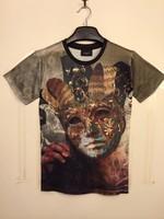 Men women casual T shirt  holdem denim type Thailand 3d lion head / clown Divine / sexy mask girl print tshirt camisetas blusa