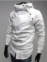 Hot,New winter men's plus size rabbit fur collar metal buckle fleece hoodies sweatshirts men,C2