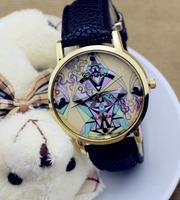 geneva new Top sale wholesale quartz watch women leather fashion watches women dress art wrist watch free shipping best gift
