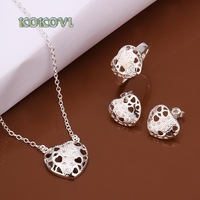 Free shipping S488 2014 bulk sale cheap bridal party 925 silver Jewelry sets