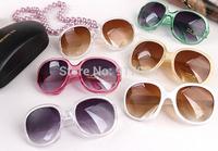 2015 Moda Super Star Girls verano fresco Forma Redondo Grande Lady gafas de sol UV400