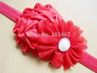 New 8pcs/lot chiffon fashion baby flower headbands  elastic headbands