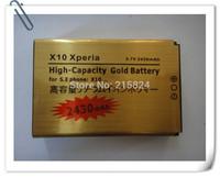 20 pcs/lots 2430mAh High Capacity Gold Business Standard Li-ion Battery for Sony Ericsson Optimus X10 Xperia