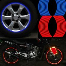 Hot sale Polyethylene Terephthalate Wheel Sticker Reflective Rim Stripe Tape Bike Motorcycle Car Drop shipping(China (Mainland))
