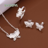 Free shipping S487 2014 bulk sale cheap bridal party 925 silver Jewelry sets