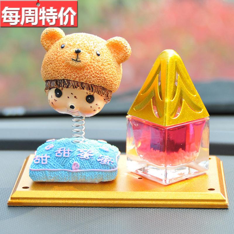 """Clearance "" cute bobblehead perfume car seat a variety of optional spring sweet sweet honey perfume(China (Mainland))"