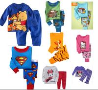 Classic baby clothing  pijamas kids pyjamas  pijama infantil Pajamas Children Superman  Tiger Bear  Minnie  kids clothes