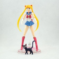5pcs 15cm/6 inch Pretty Guardian Sailor Moon 20th Anniversary Simple Style & Hero Action Figure New in Box