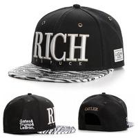 2014 new fashion snapback baseball cap hat for men women adjustable bone sports hip hop gorras mens/womens sun hat black Zebra